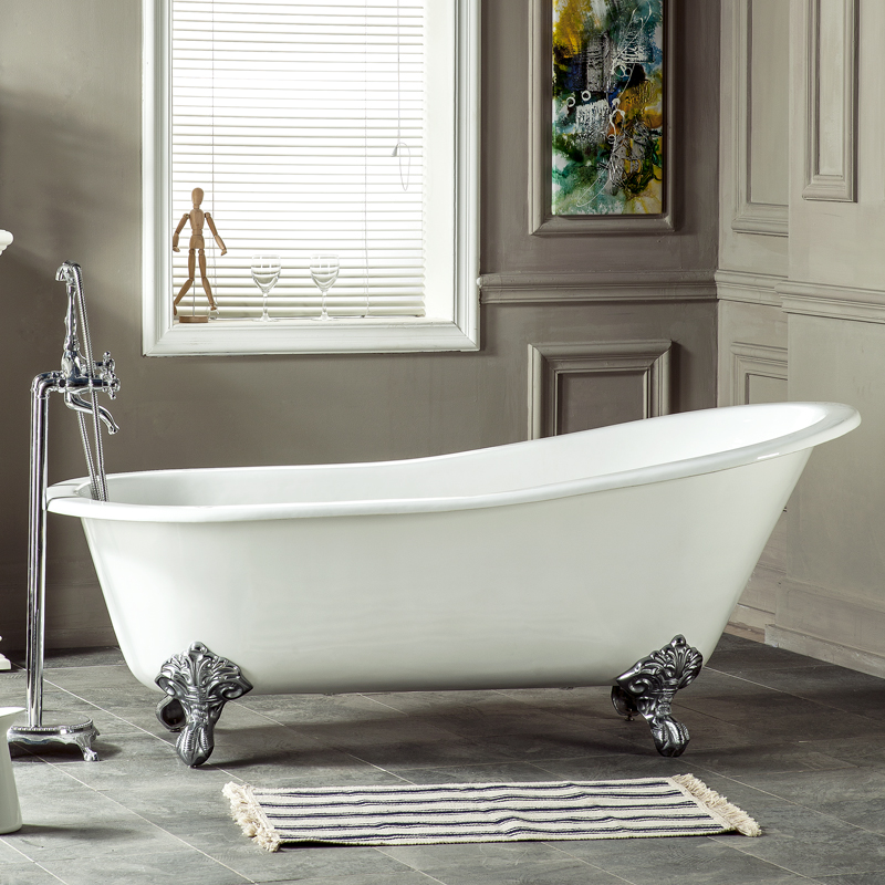 67'' container one person used cast iron bathtub for sale