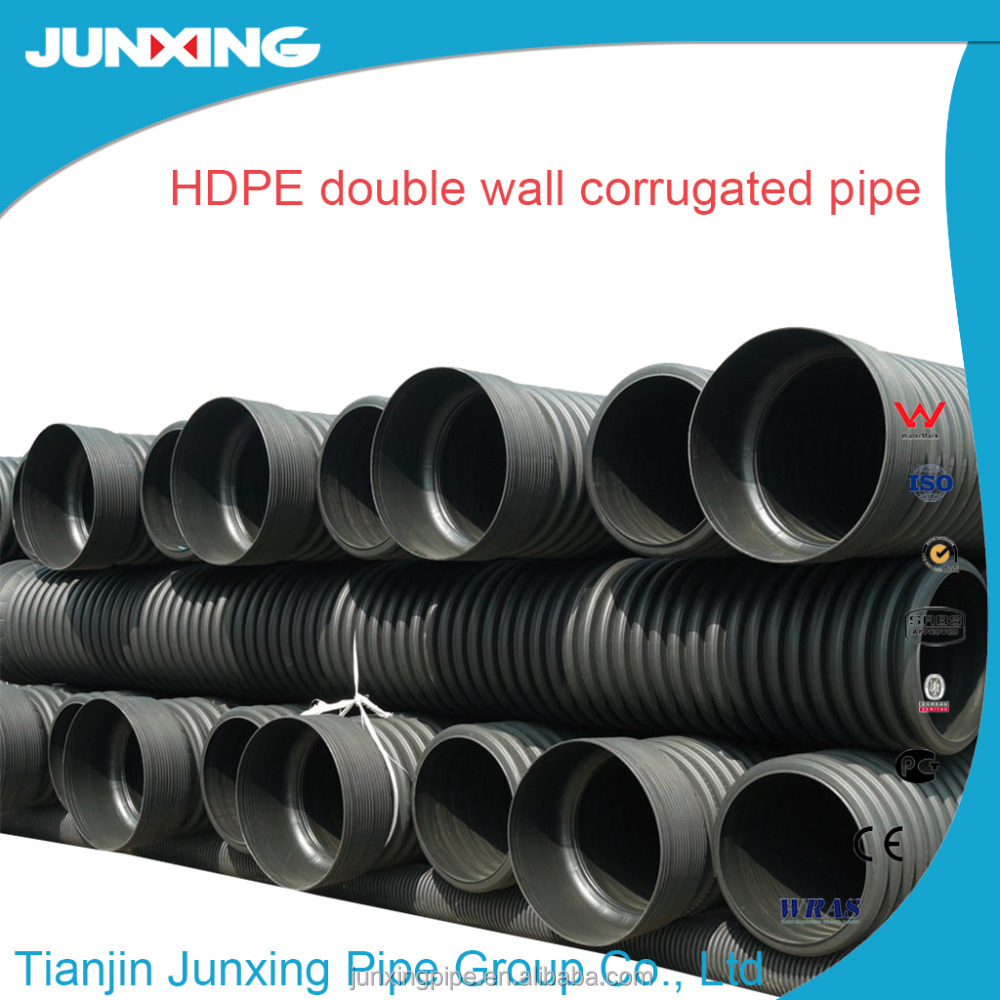 "8"" hdpe large diameter corrugated drainage pipe"
