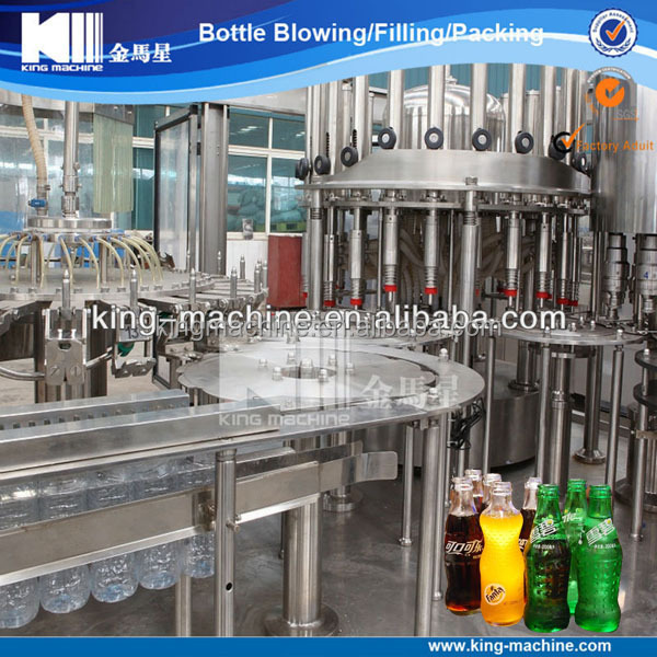Glass bottle carbonated soft drink production line