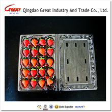 Disposable PET transport fruit plastic box for strawberry packaging