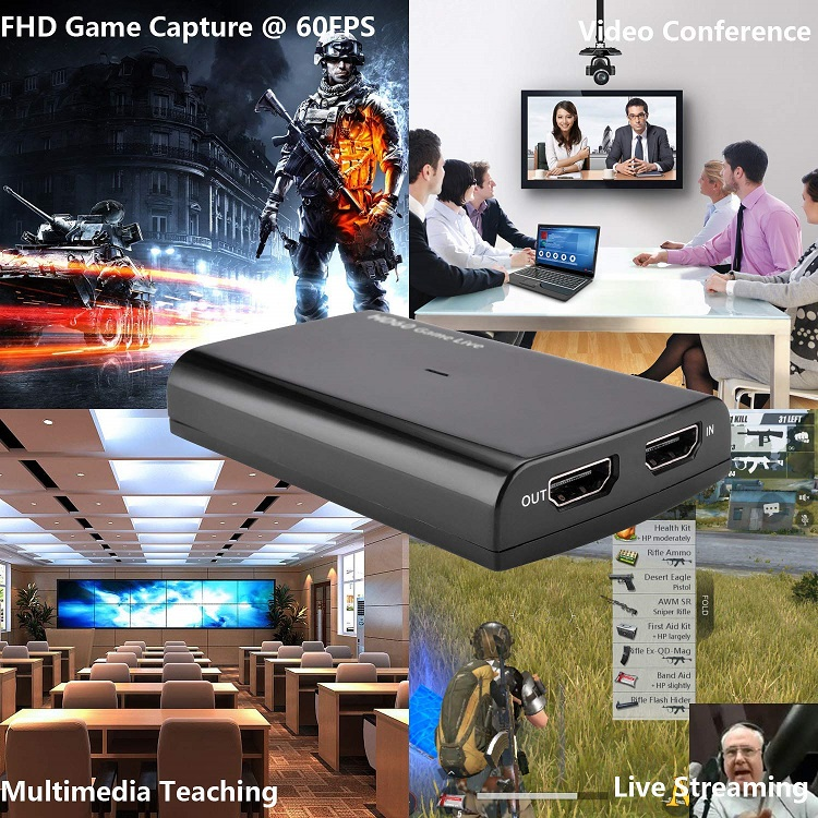 4K UVC Video Capture Live Streaming with Microphone input ezcap266