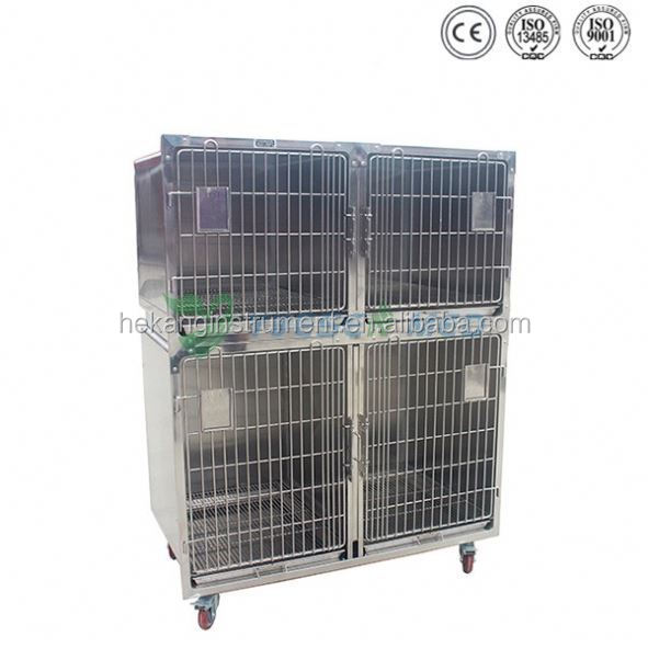 Animal hospital and zoo use stainless steel dog iron cage