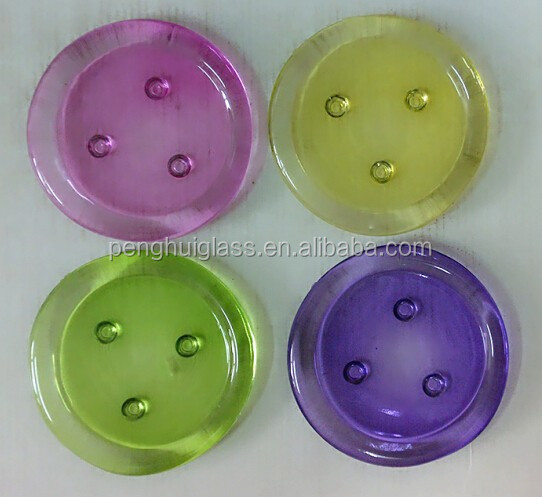 Pressed round glass pillar/votive candle plate,cheap glass candle plate,glassware