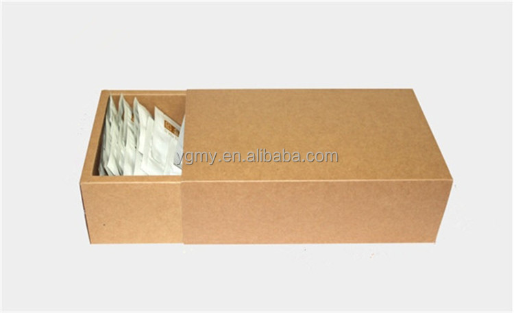 Large brown kraft drawer boxes, plain brown kraft gift packaging cardboard boxes