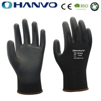 HANVO Abrasion Resistance Kevlar With PU Safety Gloves