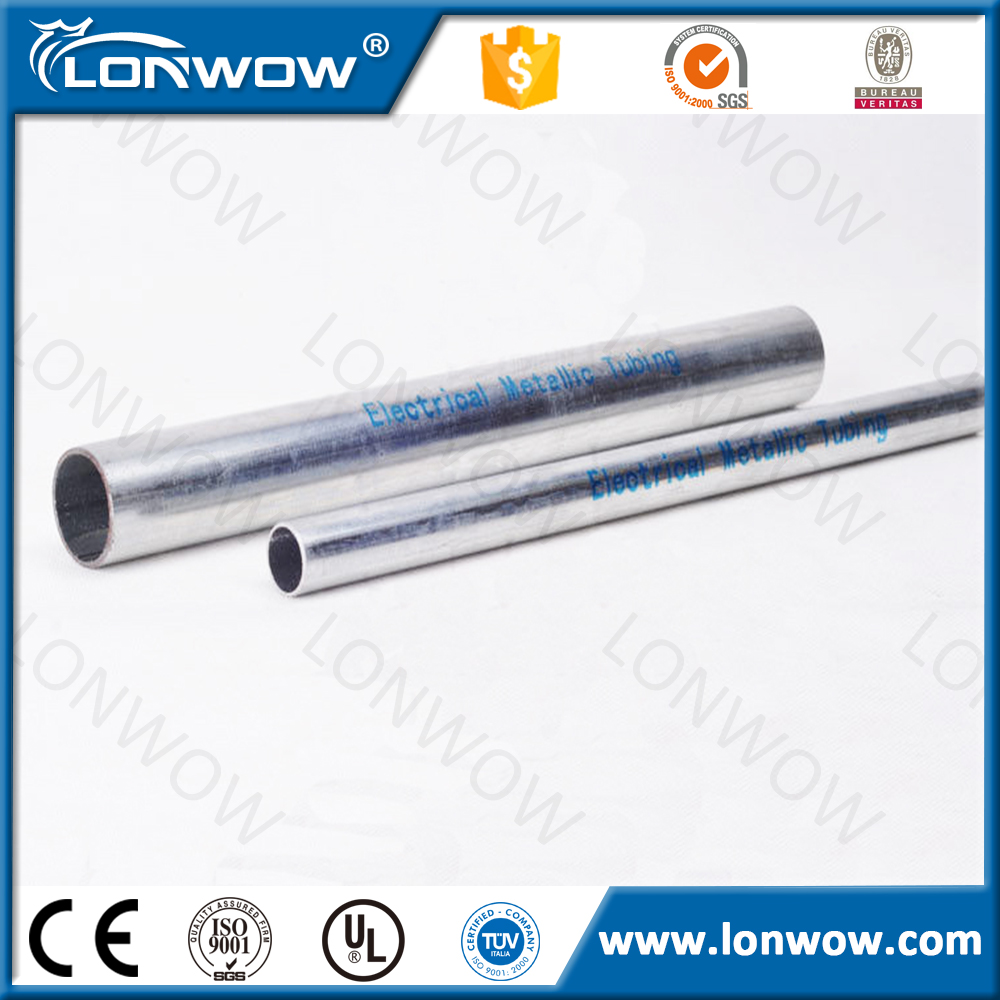 ANSI C80.3 UL797 standard gi electrical conduit pipe with best quality and low price