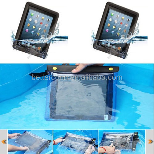 Waterproof Underwater Dry Pouch Case Bag For iPad 2/3/4 For Apple iPad Mini Tablet in Swimming Surfing Diving With Compass