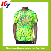 Hot Sale Custom Printed T-shirt Cheap Couple Design /Dye Sublimation T-shirt Printing