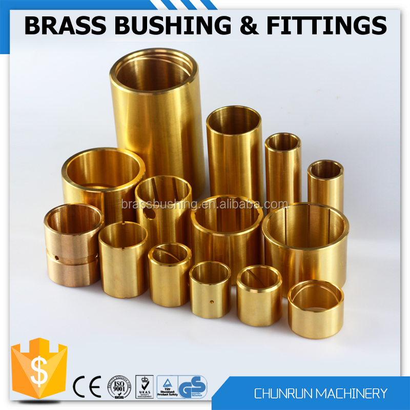 1/4'' brass reducing bush auto processing and cnc machining short delivery brass bushings customized bushings