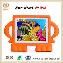 Hot Selling Free Standing Angry Guy animal shape carton deaign Kids Friendly Lovely Case for iPad
