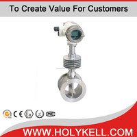 Holykell Price saturated RS485 gas flow totalizer meter for beverage /superheated steam vortex flow meter-KVFN