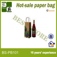 Mini wine bottle paper bag