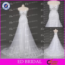Made to Order China Supplier A-line Sweetheart Neckline Lace Appliqued Sequins Alibaba Wedding Dresses China