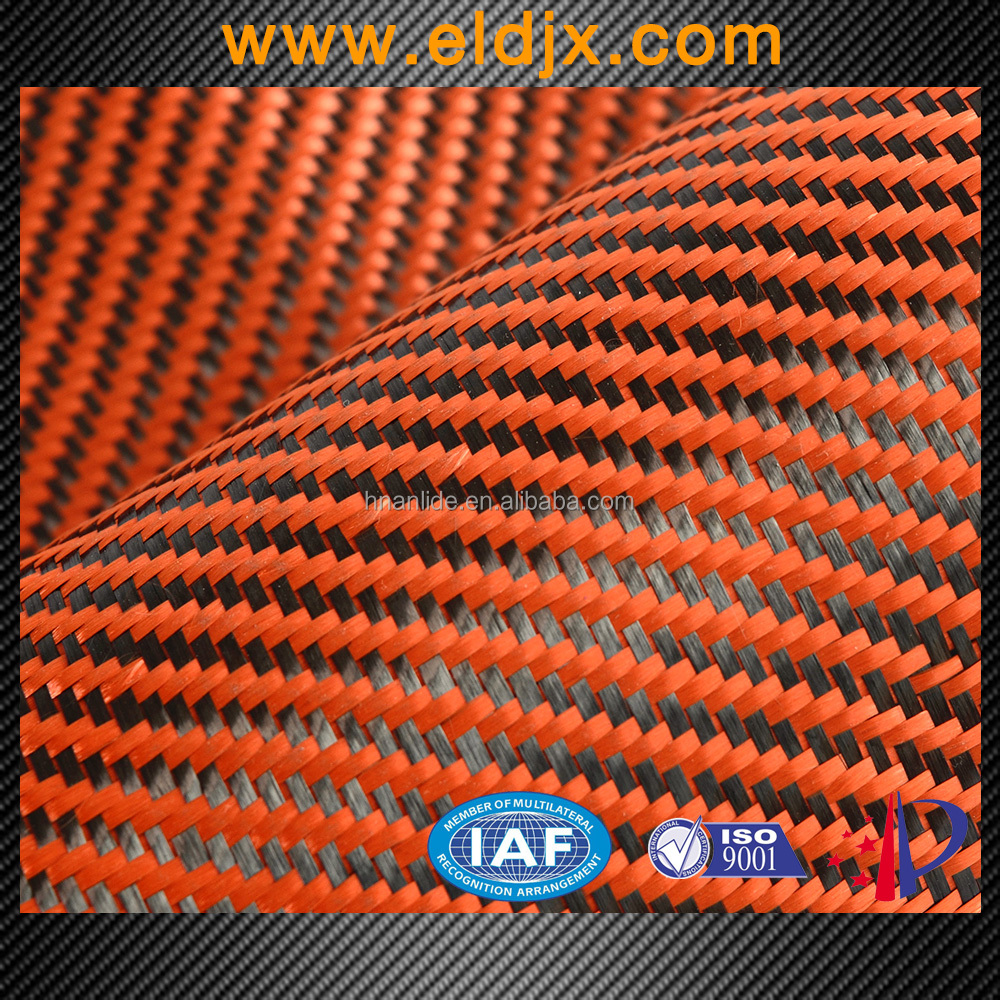 Professional color twill weave carbon fiber aramid hybrid kevlar fabric price