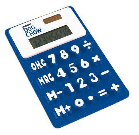 Medium Size 15.3*9.6*0.8cmCM Portable Solar Powered Silicone Pocket Calculator 8 Digit Creative for Student Test and Office Use