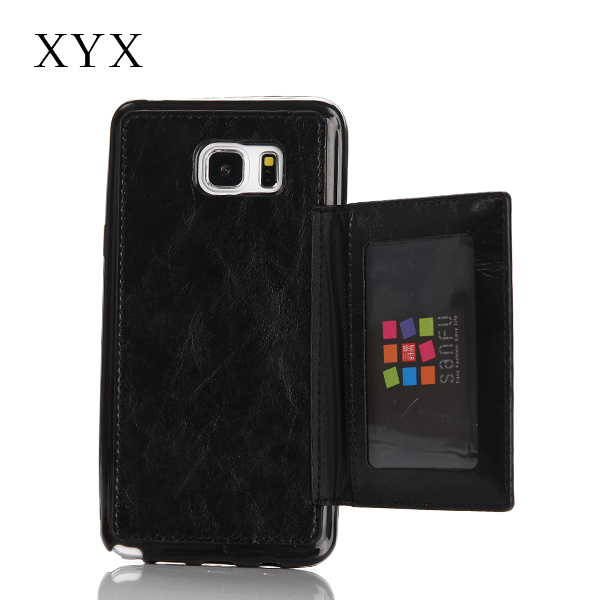 mobile phone case card holder wallet styles for Moto x force case cover
