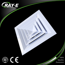 factory price aluminum air ventilation system 4 way supply duct ceiling square air diffuser