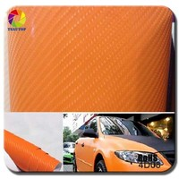 TSAUTOP Self Adehesive Top Quality car cover vinyl wrapping stickers 4d carbon fiber vinyl car sticker