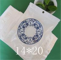 14*20cm White / Clear Self Seal Zipper Plastic Retail Packaging Bag, Zip Lock Ziplock Bag Retail Package with Hang Hole