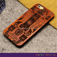 Hot Sell for iphone 6 wood case, wholesale cell phone accessories