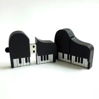 2016 Hot Sales Pendrives Cartoon Piano Model Usb 2.0 Usb flash Drive Pen Drive 4G 8G 1G 32G 64G Silicone