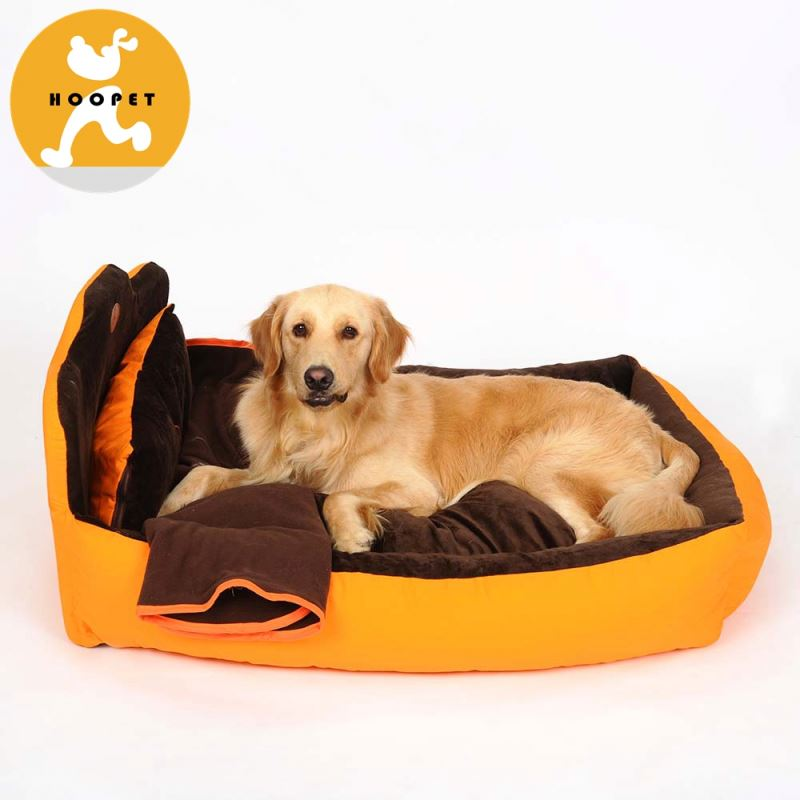 Vivid noble orange and brown inflatable dog bed furniture