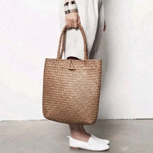2017 Summer Natural Straw Large Beach Bags Handmade Woven Tote Women Fashion Travel Handbags Designer Vintage Shopping Bag