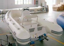 CE center control fiberglass hull inflatable rib boat 420