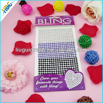 Wholesale removable rhinestone bling car sticker,3D car sticker,3m car sticker