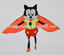 Cartoon animal shape mickey mouse diamond child flying kite