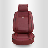 6 colors high quality PU faux leather car seat cover dark red/red/beige/black/orange/brown