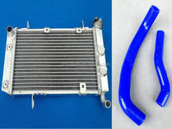 Aluminum radiator and hose for Kawasaki KX250F KXF250 2004/SUZUKI RMZ250 RMZ 250 04 kit