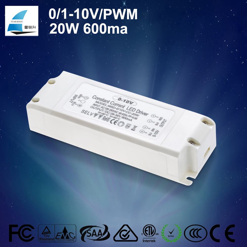 0-10v pwm dimmable driver switch power supply CC led converter 350ma 500ma 700ma for led light