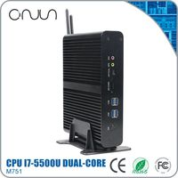 i7 home theater pc fanless thin pc micro computer in china