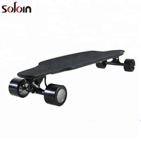 4 wheel adults Control System 11 Layer Maple Glass Fiber Electric Skateboard