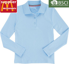 hot sale manufacture high school uniform designs polo shirts design
