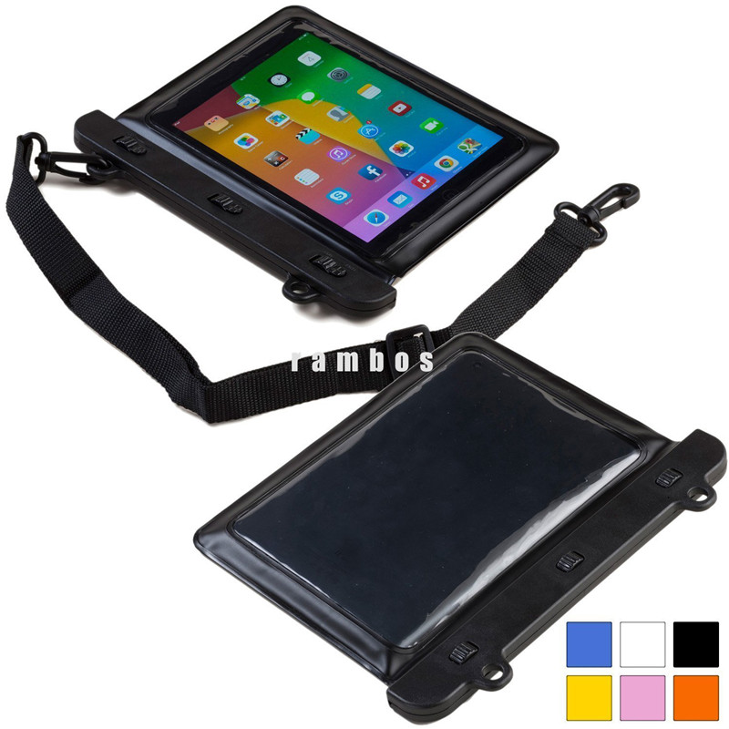IPX8 Universal PVC Waterproof Bag Case Underwater Swimming Dry Bags Pouch for 7 -8 inch Tablet PC