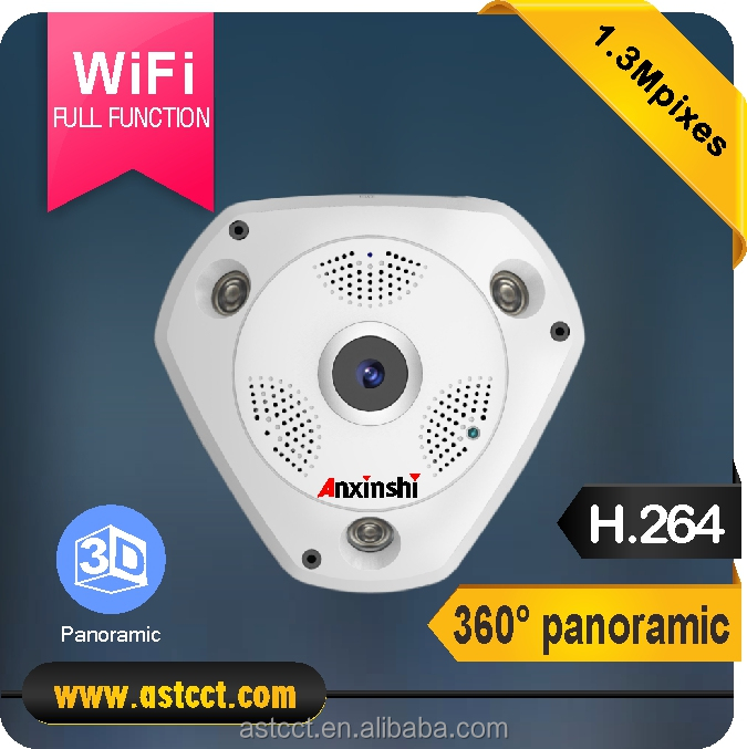2017 Newest 360 Degree Panoramic Camera 1.3MP Fisheye IP Camea wifi 3D V R Video Camera PoE IP wirless