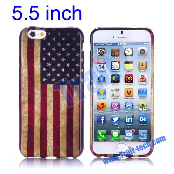 Chian Wholesale New Arrived Soft TPU Case for iPhone 6 Plus 5.5 Inch Back Cover Paypal Accept