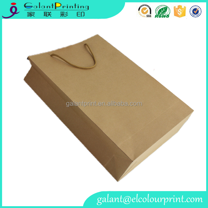 grocery industrial use recyclable cheap plain brown kraft paper bags food grade