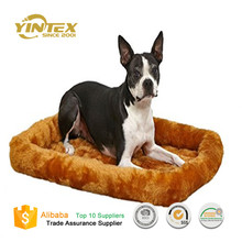 Plush fleece padded PP filling pet bolster dog bed
