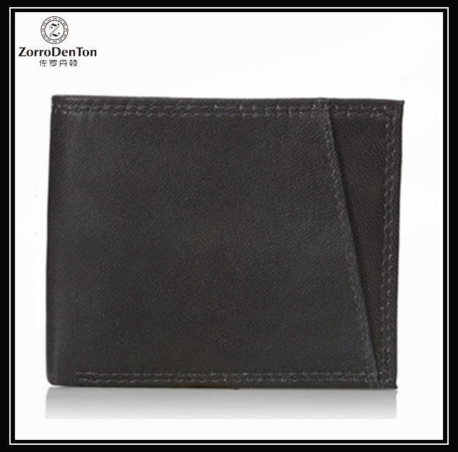 Guangzhou Fantastic Genuine Leather Men's Billfold Wallet with 16 credit card pockets- black