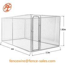 Hot galvanized portable chain link dog cage kennel panel direct factory