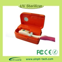 Easy & safe to use portable Mini Travel UV toothbrush case/box Sanitizer disinfection sterilizer