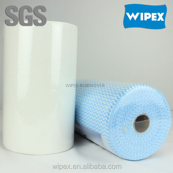 Industrial Wipes clean wipers disposable nonwoven cloth spunlace wipe roll manufacturer in China