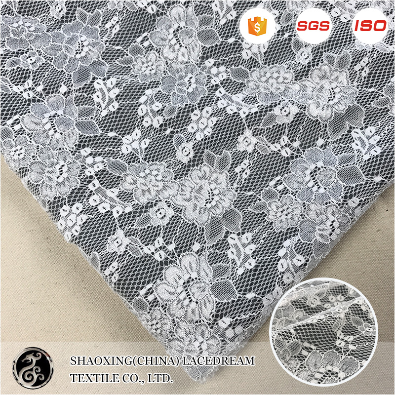 Latest french in stock custom lace fabric