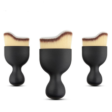 Promation S shape natural curved face foundation professional make up <strong>brushes</strong> contour <strong>brush</strong>