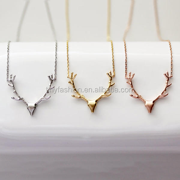 Custom Color Christmas Gift Jewelry Deer Ankle Pendant Necklace