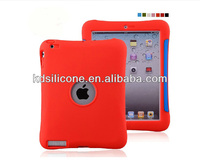 Guzel rugged silicone tablet case for ipad2/3/4 drop resistant
