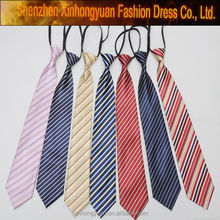 Latest new multi stripe skinny funny necktie woven knitted ties